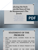 A Stylistic Analysis of Guy de Maupessant's