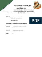 Informe de Cuyes y Vacunos de Practica