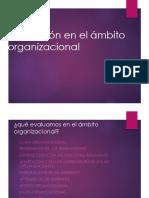 EVALUACION EN EL AMBITO ORGANIZACIONAL