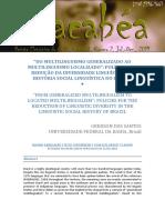 Políticas de Redução Da Diversidade Línguistica Brasileira
