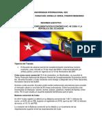 Tratado Entre Ecuador y Cuba