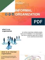 Informal Organization