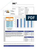 Ptepro Score Report
