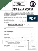 ptsa membership form - general