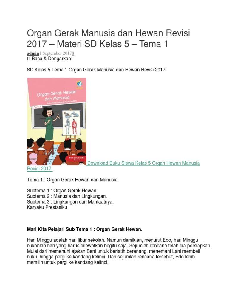 Organ Gerak Manusia Dan Hewan Revisi 2017cx