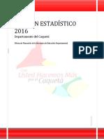 Boletin Estadistico Caqueta 2016