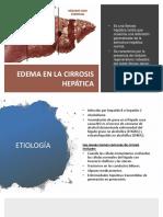 Fisiopatologia Edema