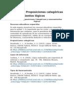 Unidad 3 Proposiciones Categoricas y Razonamientos Lógico - Pto. Matematico Bibliografias
