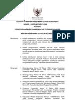 KMK No. 1333 Ttg Persetujuan Penelitian Kesehatan Terhadap Manusia