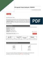 Gmail - Booking Confirmed - OYO 7580 Jagannath Temple, Booking No. TNEH8920