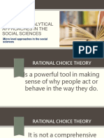 Empirical-Analytical Approaches in the Social Sciences