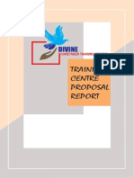 PROPOSED PROJET PLAN FOR TRAINING CENTRE