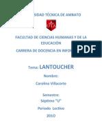 Proyecto Lantoucher Messenger
