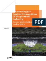 Accounting for Typical Transactions in the Football Industry