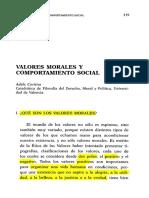 valores morales y comportamiento social