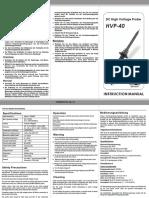 HV pinktek Manual