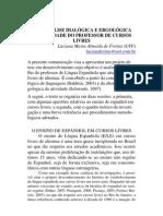 Uma análise dialógica e ergológica da atividade do professor de cursos livres - LUCIANA
