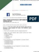 Soal Latihan Uas Ipa Kelas 9 Smp Semester 1 Kurikulum 2013 _ Serba Serbi Guru