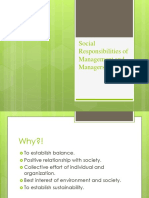 Social Responsibilities of Management and Managers