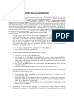 Secrecy Declaration Agreement