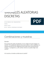 Variables Discretas (ESTADISTICA)