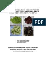 Manual de Procesamiento y Conservacion de Lechugas Variedades Verde y Morada Crespa Minimamente Procesadas