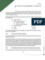General Rules for Measurement of Civil Works