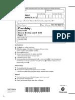 Chemistry 1C - Specimen Paper