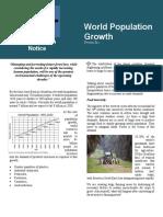 World Population Growth- Conservation Notice