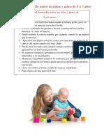 El Desarrollo Motor en Niñas y Niños de 0 a 3 Años