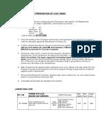 Cost Index Procedure