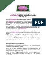 Faq for the Shreembrzee Morning Manifestation Program