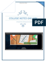 College Notes Gallery