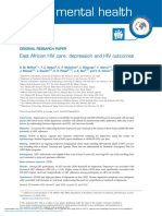 East African HIV Care Depression and HIV Outcomes