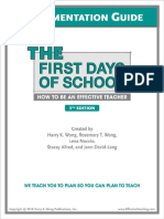 Guide for The First Days of School