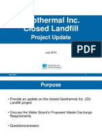 July 2019 - Geothermal Inc. landfill facility project update