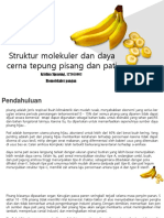 Bananas Whole and Sliced on White Background PowerPoint Templates Widescreen