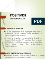 POSITIVIST Intitutionalism