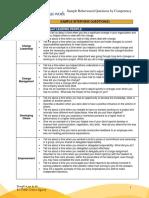 Sample Behavioural Interview Questions