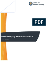 CIS Oracle MySQL Enterprise Edition 5.7 Benchmark v1.0.0