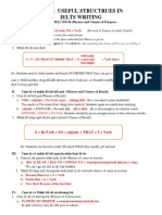 Some Useful Structrues in Ielts Writing