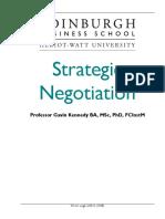 Strategic Negotiation Course Taster