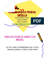 Notes_Lecture1 Introduction Communication Skills