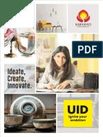 Unitedworld Institute of Design Brochure
