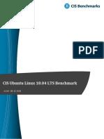 CIS Ubuntu Linux 18.04 LTS Benchmark v1.0.0