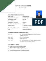 Daftar Riwayat Hidup (2)