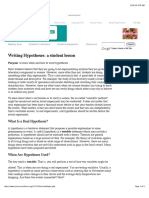 010 Writing Hypotheses