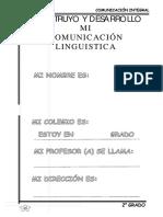 Construyo y desarrollo mi comunicación lingüística