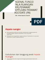Mengenal Fungsi Kepala Ruangan (KR),Perawat