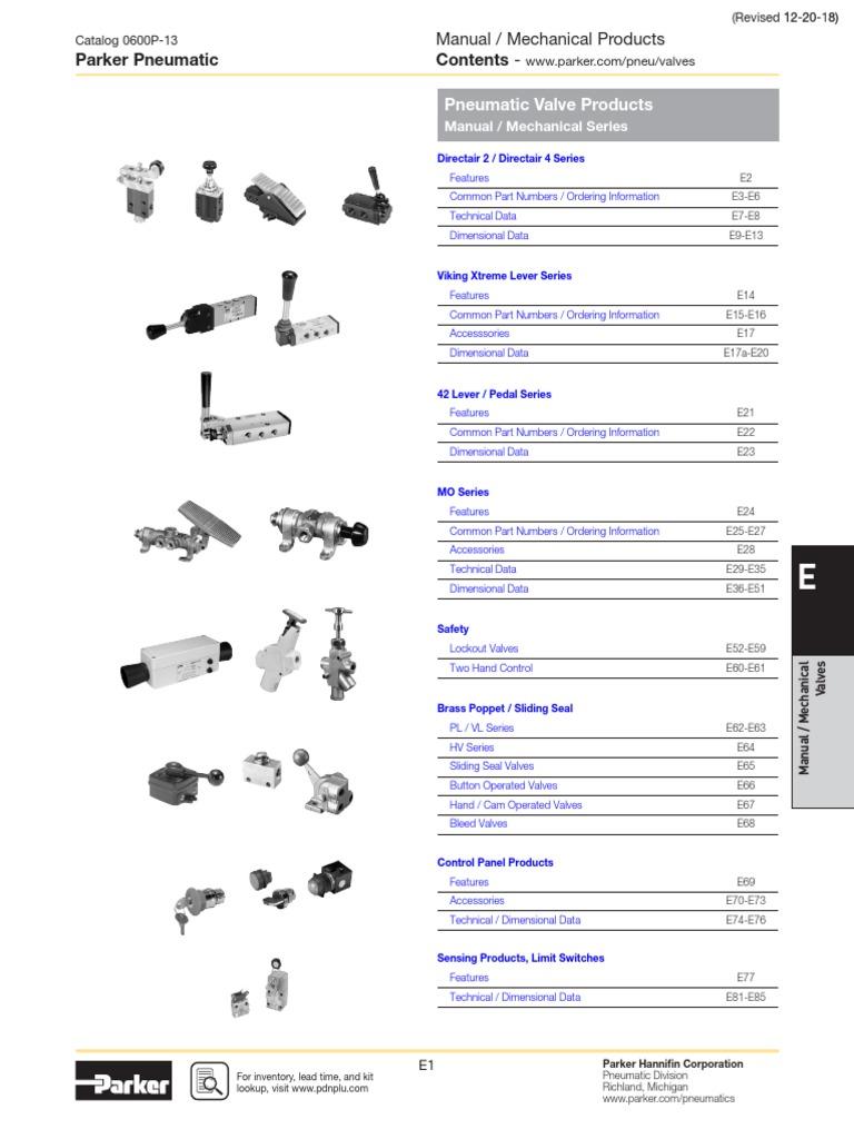 1//8 NPT Port Size 1//8 NPT Port Size Parker Hannifin Corporation Standard Spring Return 2-Position 3-Way Valve Type Parker Hannifin 414211000 Series DirectAir 2 Anodized Aluminum Inline Spool Valve Roller Delrin Operated